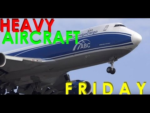(HD) HEAVY AIRCRAFT FRIDAY, Turkish San Fran & Cargo, Emirates, Chicago O'Hare International Airport