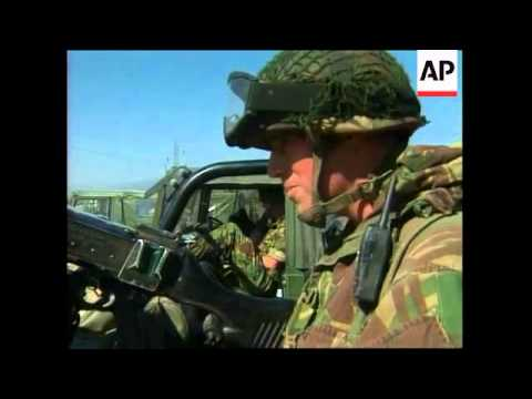 NATO soldiers pull out following rebel demobilisation