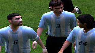 PC Retro FIFA 2004 Argentina x Brasil gameplay