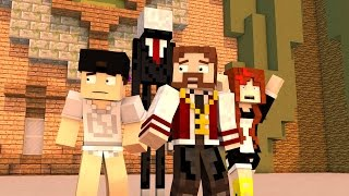 Minecraft: NOVO MINIGAME (Build Battle) - TEMOS MEDO DO SLENDER!! (c/ Miss e Luiz)