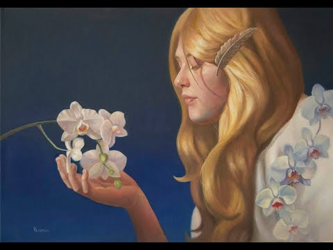 How to paint realistic portraits and orchids with oil paint
