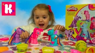 Май литл Пони МЛП набор пластилина Плейдо распаковка MLP My Little Pony unboxing Play-Doh set