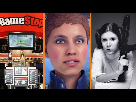 GameStop Hacked? + Mass Effect Pirates Get Crazy Eyes + Carrie Fisher In Star Wars Ep 9 - The Know