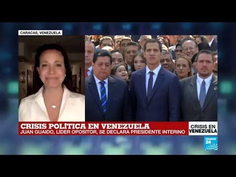 """María Corina Machado: """"Juan Guaidó es el presidente encargado de Venezuela"""""""
