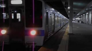 鹿児島本線赤間行き普通(415系)・吉塚駅を発車
