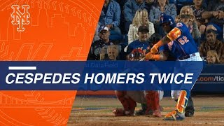 Yoenis Cespedes crushes two home runs vs. Nationals