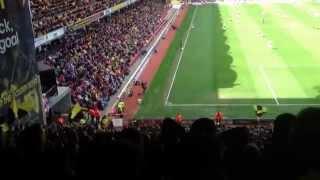 Watford fans bouncing