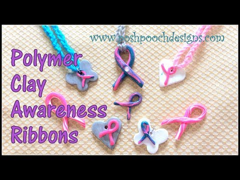 How To Make Polymer Clay Awareness Ribbons