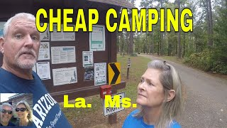 Cheap Camping in Louiṡiana and Mississippi at some COE and State Parks. Dodging Hurricane ZetaS10E8