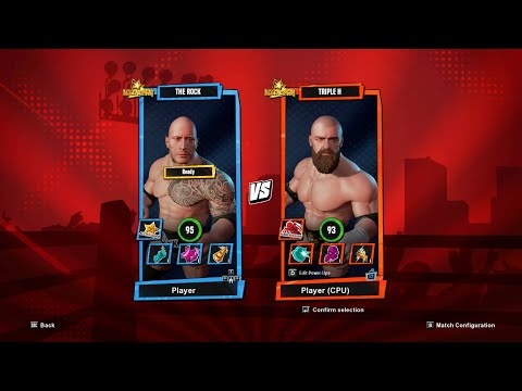 The Rock comes in the Ring to Deliver his Strength | WWE 2K Battlegrounds | GameReBorn |