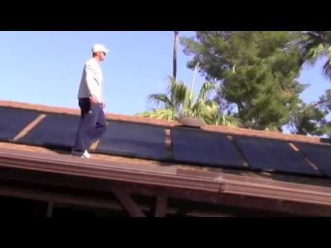 Pool solar panel installation