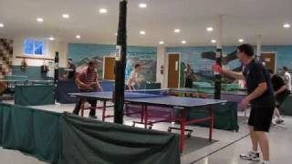 Short clip of the playing area of Phoenixville Table Tennis Club