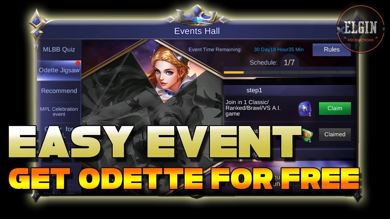 Event Calendar Mobile Legend : New event odette jigsaw how to get very easy