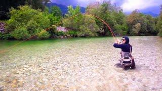 Ловля нахлыстом радужной форели на сухую мушку! | Trout Fly Fishing