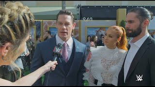 "John Cena, Becky Lynch, Seth Rollins and more check in from Dolittle ""green carpet"""