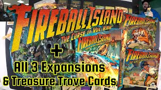 Fireball Island Playthrough with All 3 Expansions & Treasure Trove Cards