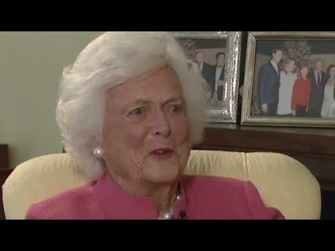 Barbara Bush: I love Bill Clinton