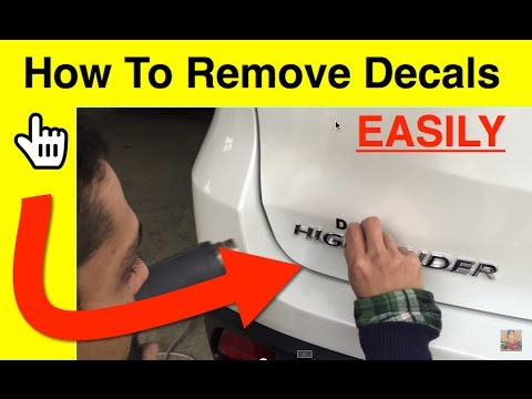 How To Easily Remove Decals Using A Hair Dryer YouTube - Vinyl decals for cars removal