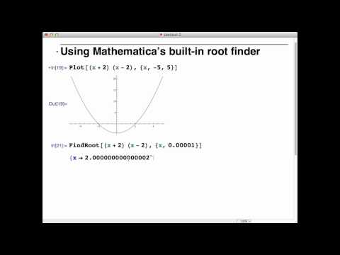 Using Mathematica's built-in root finder