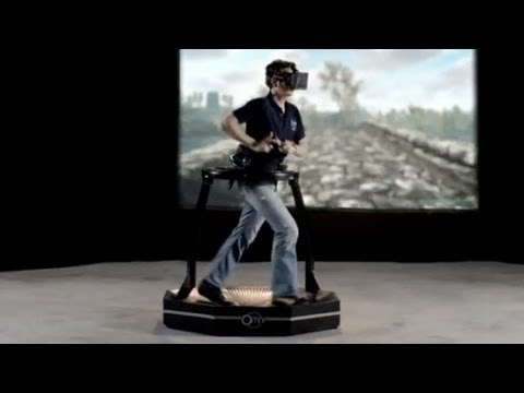 Oculus Rift demo with Virtuix Omni walking platform