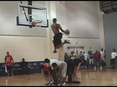 """TFB::Dunks::6'3"""" Guy Dupuy ... BETWEEN THE LEGS ELBOW DUNK.."""