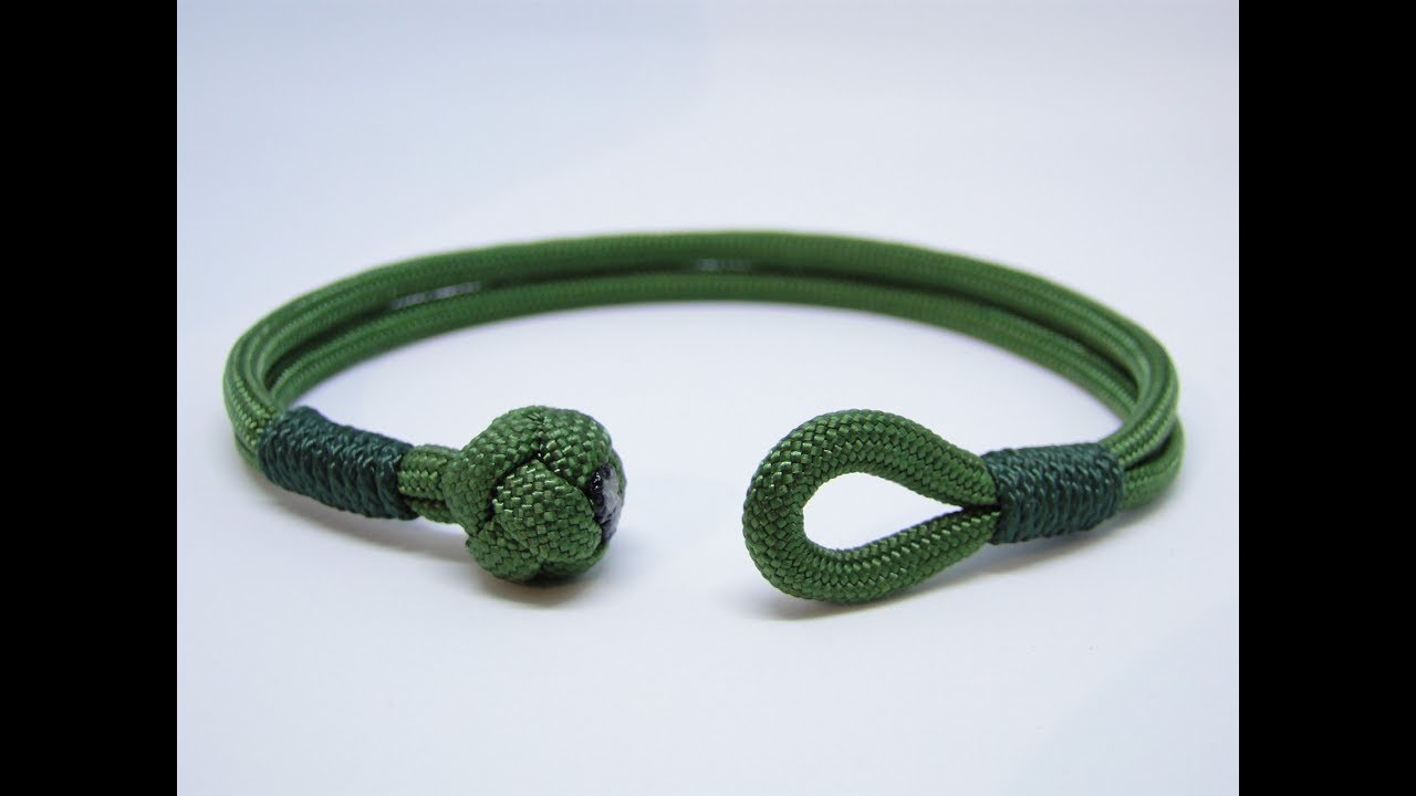 How To Make A Diamond Knot And Loop Closure Common Whipping Paracord Survival Bracelet