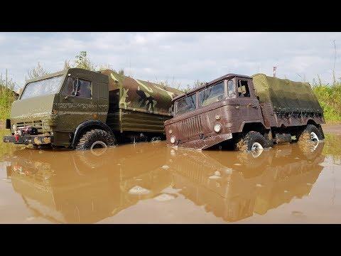 Шишига и Камаз на бездорожье ... Много грязи, мощный OFFroad !!! Сравнительный тест