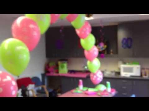 Grandma Jo 90th Birthday Room Decorations YouTube
