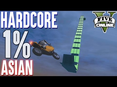 1% HARDCORE LEVEL ASIAN MOTORRAD PARKOUR (+DOWNLOAD) | GTA 5 - CUSTOM MAP RENNEN
