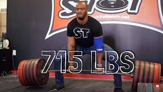715 lb deadlift 80 lb pr in jeans at supertraining gym