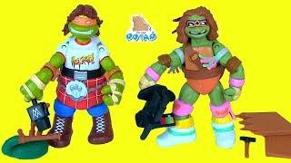 ЧЕРЕПАШКИ НИНДЗЯ! Перевоплощение в Рестлеры TMNT Видео для детей!  Мультик от  My Toys Potap
