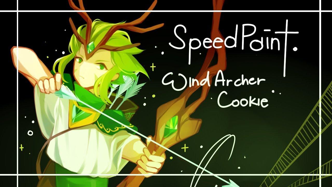Speedpaint 𝟜 Cookie Run 쿠키런 Wind Archer Cookie Youtube