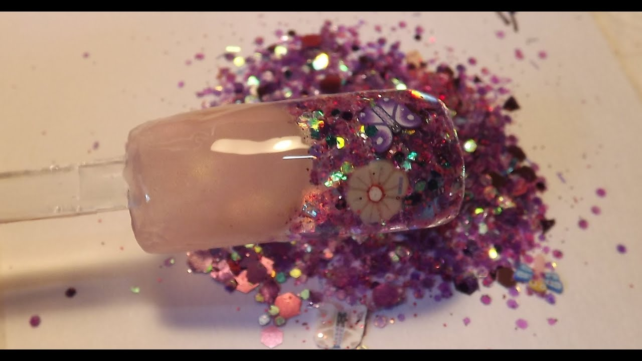 Using Chunky Glitter Mix with Builder Gel - Tutorial - YouTube