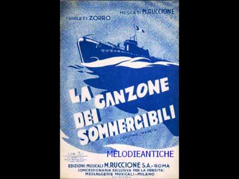 Aldo Visconti - La canzone dei sommergibili (con testo)