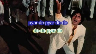 De de pyaar de karaoke with lyrics