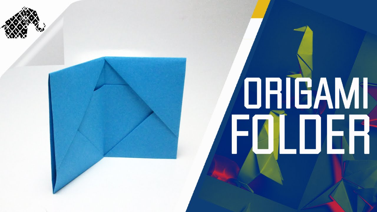 origami how to make an origami folder wallet youtube