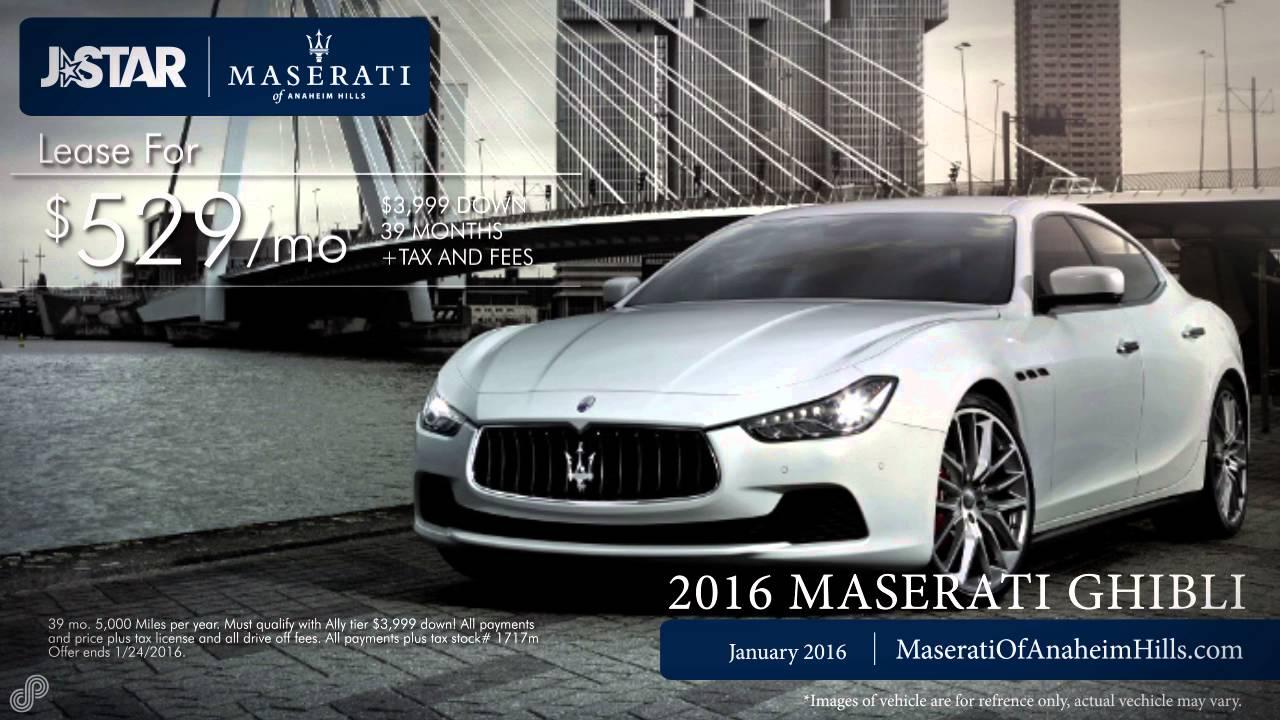 Maserati Anaheim Hills >> 2016 Maserati Ghibli Sp January Maserati Of Anaheim Hills Youtube