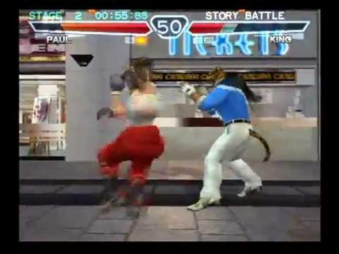 Tekken 4 (PlayStation 2) Story Battle as Paul