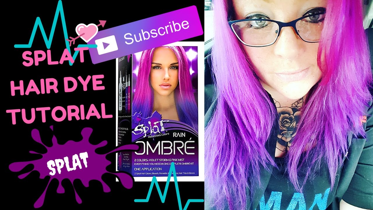 SPLAT OMBRE RAIN Hair Dye Tutorial Review And