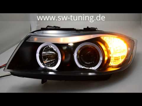 angel eye scheinwerfer bmw e90 e91 3er led standlichtringe. Black Bedroom Furniture Sets. Home Design Ideas