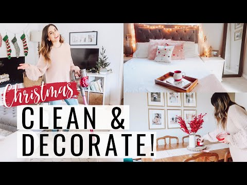 NEW CLEAN & DECORATE WITH ME FOR CHRISTMAS 2019! ULTIMATE CLEANING MOTIVATION | Justine Marie