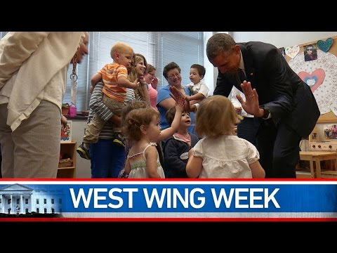 This week, the President donned a yarmulka at Adas Israel Congregation, where he also sang and danced with some preschoolers, marked the first Memorial Day since our war in Afghanistan came to an end, hosted the NATO Secretary-General in the Oval Office, and answered your questions on climate change during a Twitter Q&A in Miami. That's May 22 to May 28th or,