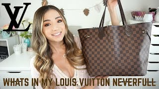 WHATS IN MY PURSE | LOUIS VUITTON NEVERFULL | DO I REGRET BUYING IT?!