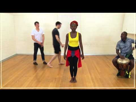 African Dance Lesson 2 Pelvic Isolation and Limb Throws