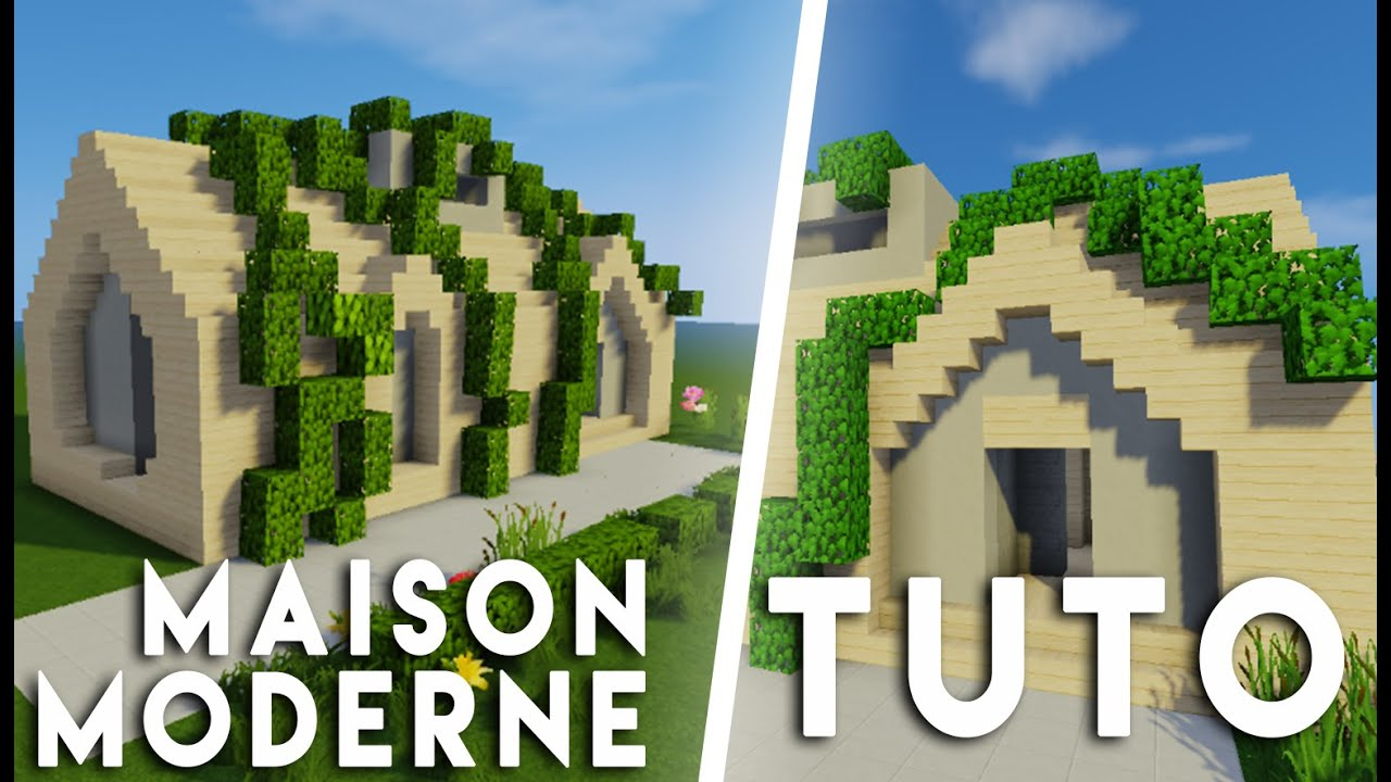 Maison moderne campagne for Maison moderne youtube minecraft