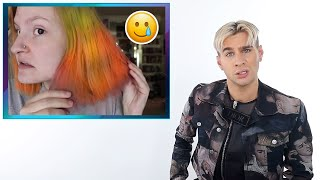 Hairdresser Reacts To People Dying Their Hair Bright Orange