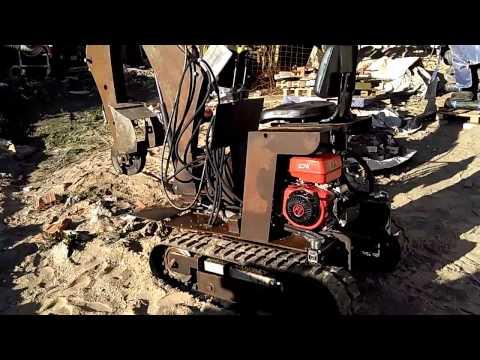 видео: Испытания миниэкскаватор exrex 600