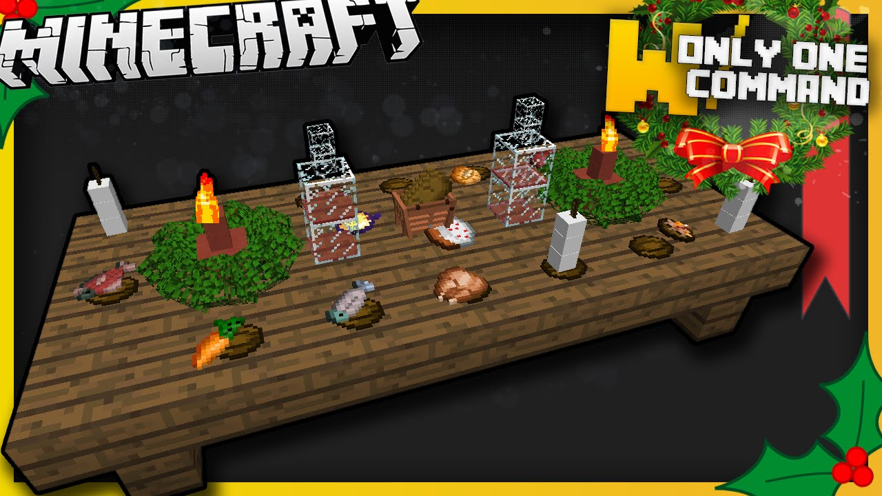 Minecraft Christmas Dinner Items With Only One Command
