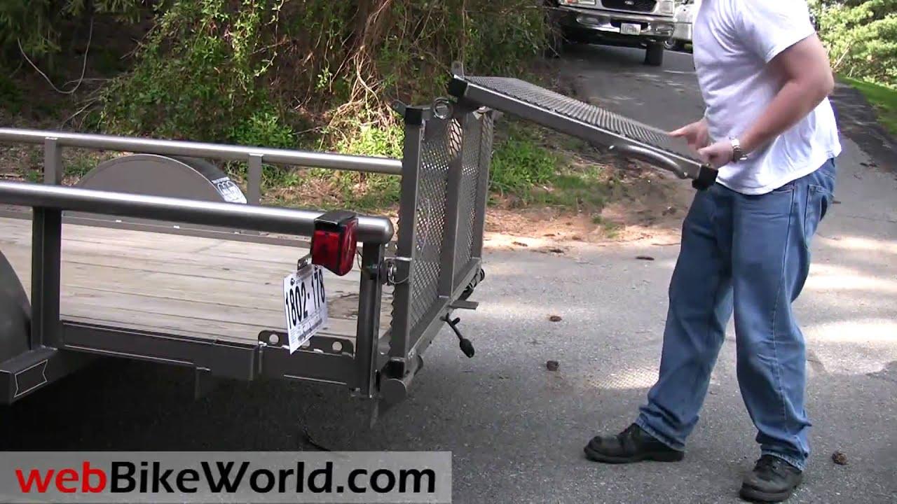 Diamond C Motorcycle Trailer Youtube