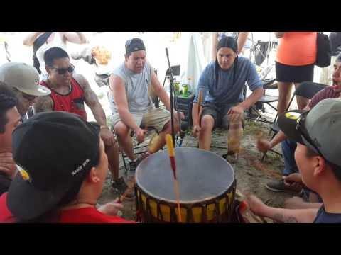 Ottawa River singers at Odawa Pow Wow 2016 (2)